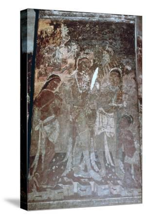 Lady at Her Toilet, Cave Fresco, Ajanta, India, 1st-5th Century