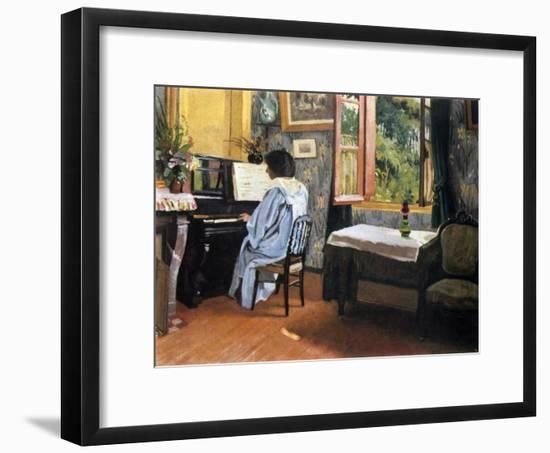 Lady at the Piano, 1904-F?lix Vallotton-Framed Giclee Print