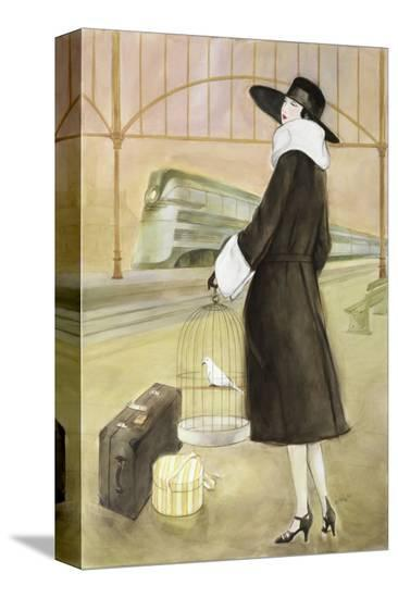 Lady at Train Station-Graham Reynold-Stretched Canvas Print