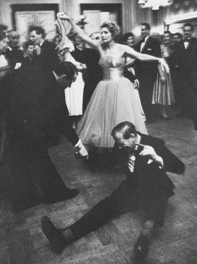 Lady Bernard Docker in Formal Dress, on Floor, Dancing at Fabulous Party Thrown by Her-Carl Mydans-Photographic Print