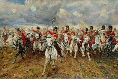 Scotland for Ever! 1881 by Lady Butler