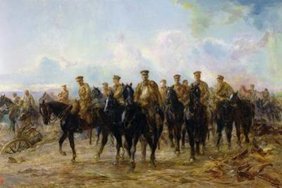The Retreat from Mons, 1927 by Lady Butler