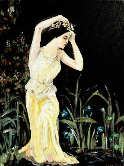 Lady by Pool-Susan Adams-Giclee Print