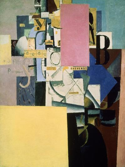 Lady by the Poster, c.1914-Kasimir Malevich-Giclee Print