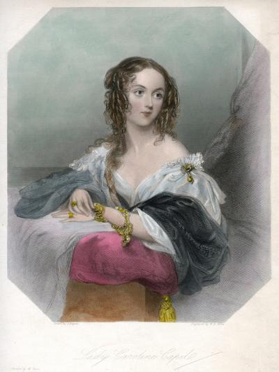 Lady Caroline Capel, C1800-1820-John Hayter-Giclee Print