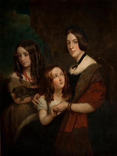 Lady Caroline Towneley with Two of Her Daughters, Caroline and Emily (Copy after Francis Grant),…-George Frederick Clarke-Giclee Print