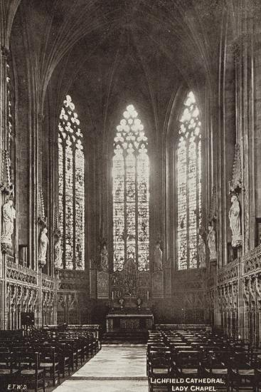 Lady Chapel, Lichfield Cathedral, Staffordshire--Photographic Print