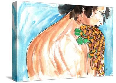 Lady Chrysanthemum-Clark North-Stretched Canvas Print
