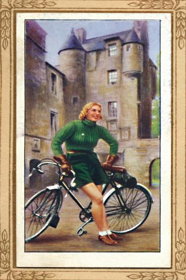 'Lady Cyclist, 1939', 1939-Unknown-Giclee Print