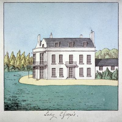 Lady Essex's House, Mile End Road, Stepney, London, C1800--Giclee Print