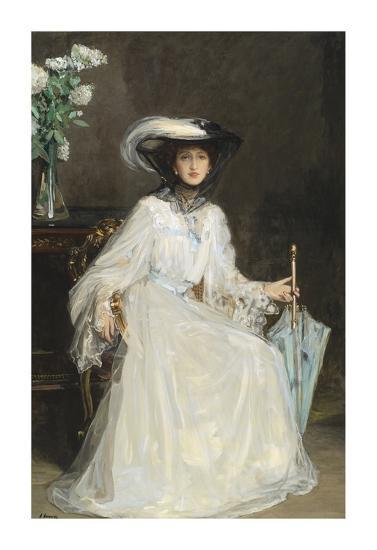 Lady Evelyn Farquhar-Sir John Lavery-Premium Giclee Print