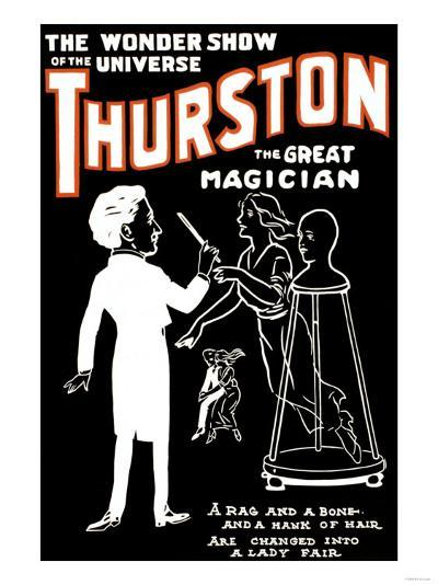 Lady Fair: Thurston the Great Magician the Wonder Show of the Universe--Art Print