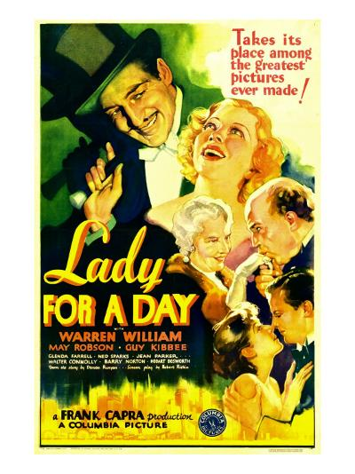 Lady for a Day, Warren William, May Robson, Guy Kibbee, 1933--Photo