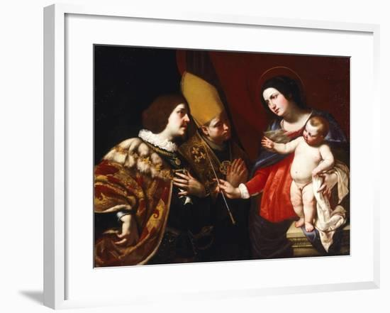 Lady Gives Sceptre of Command to Duke of Guise-Francesco De Rosa-Framed Giclee Print