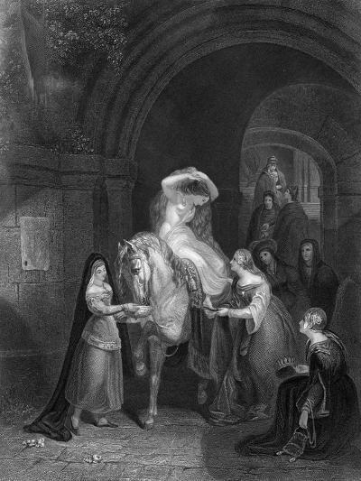 Lady Godiva Rides Through Coventry-JB Allen-Giclee Print