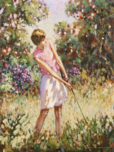Lady Golfer in the Rough-Paul Gribble-Giclee Print