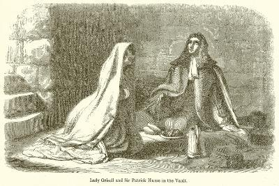 Lady Grisell and Sir Patrick Hume in the Vault--Giclee Print