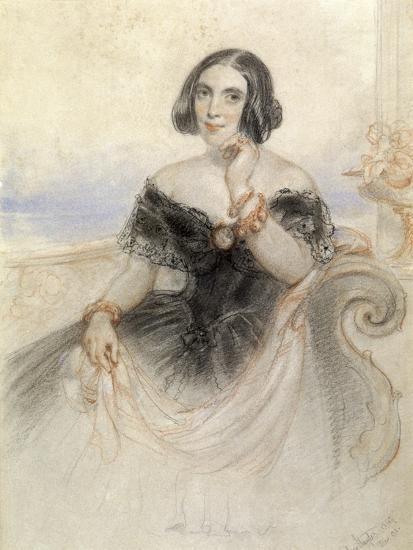Lady in a Black Dress, 1847-John Hayter-Giclee Print