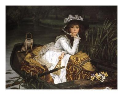 Lady in a Boat-Jacques-Joseph Tissot-Art Print