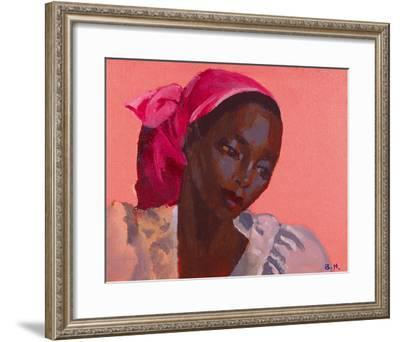 Lady in a Pink Headtie, 1995-Boscoe Holder-Framed Giclee Print