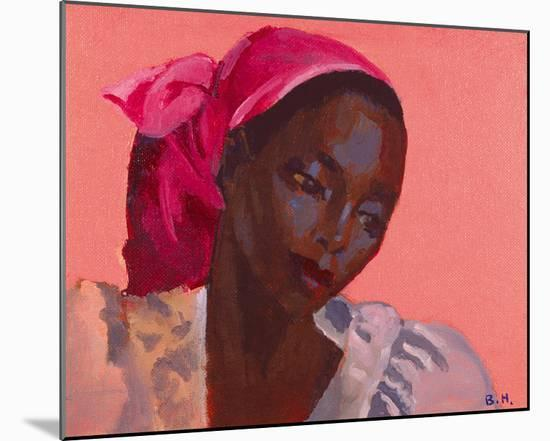 Lady in a Pink Headtie, 1995-Boscoe Holder-Mounted Photographic Print