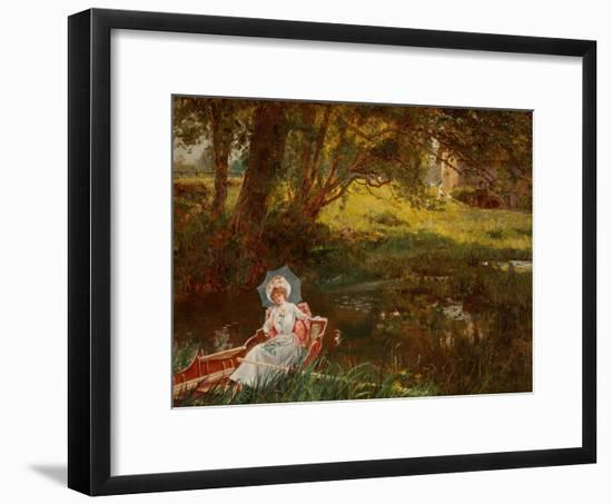 Lady in a Punt-Henry John Yeend King-Framed Giclee Print