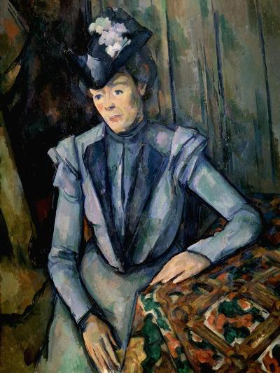 Lady in Blue (Madame Cézann), C1900-Paul C?zanne-Giclee Print