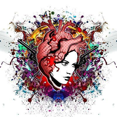 Lady in Color-reznik_val-Art Print