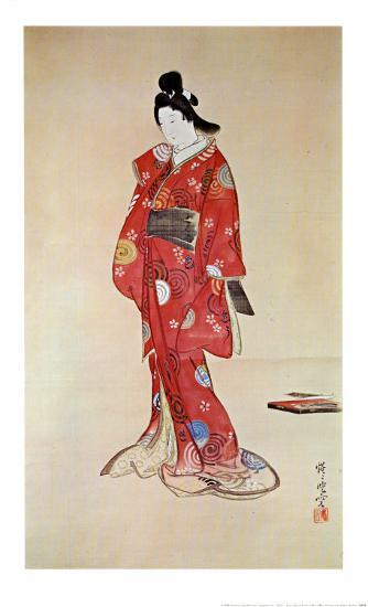 Lady In Red-Kyosai-Art Print