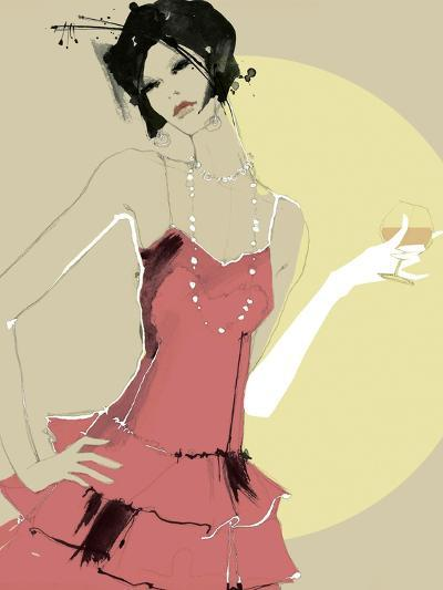 Lady in Red-Ashley David-Premium Giclee Print