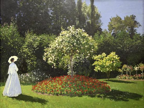 Lady in the Garden, 1867-Claude Monet-Giclee Print