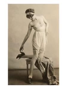 Lady in Underwear and Shoes