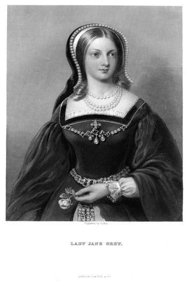 Lady Jane Grey (1537-155), 19th Century-W Holl-Giclee Print