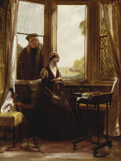 Lady Jane Grey and Roger Ascham, 1853-John Callcott Horsley-Giclee Print