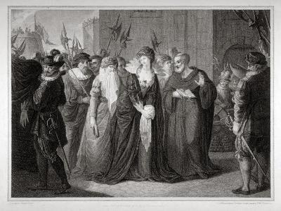 Lady Jane Grey Being Led to Her Execution at the Tower of London, 1554-Mountague Tomkins-Giclee Print