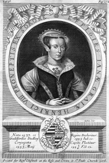 Lady Jane Grey, (C1537-155)-R White-Giclee Print