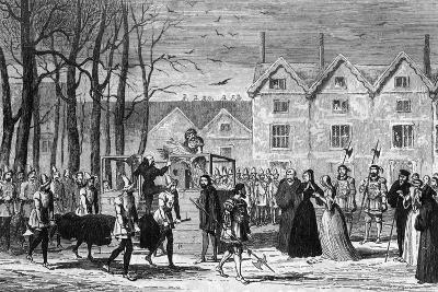 Lady Jane Grey Meeting the Body of Her Husband on the Way to the Scaffold, 1554-George Cruikshank-Giclee Print