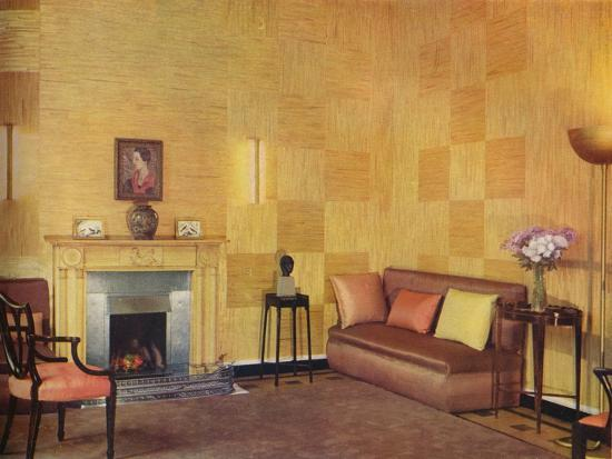 'Lady Leucha Warner's living room as decorated by Ronald Fleming', 1933-Unknown-Photographic Print