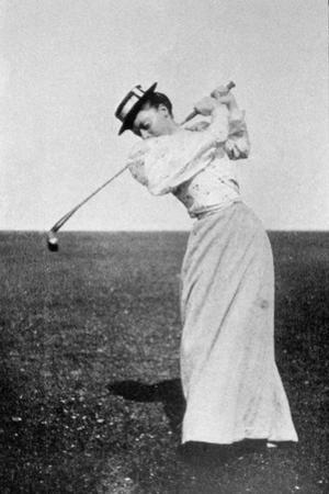 Lady Margaret Scott (1875-1938) Showing Her Graceful But Powerful Swing, Winner of the First…