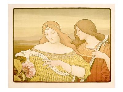 Lady Musicians-Alphonse Mucha-Giclee Print