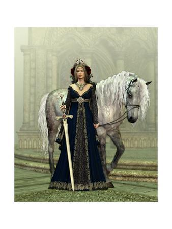 Lady Of The Castle-Atelier Sommerland-Art Print