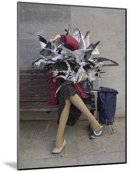 Lady of the Gulls-Banksy-Mounted Giclee Print