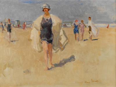 Lady on the Beach at Viareggio-Isaac Isra?ls-Giclee Print