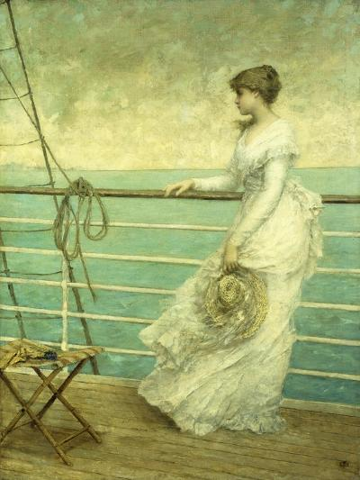 Lady on the Deck of a Ship-French School-Giclee Print