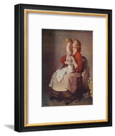 'Lady Orpen and Child', 1935-William Newenham Montague Orpen-Framed Giclee Print