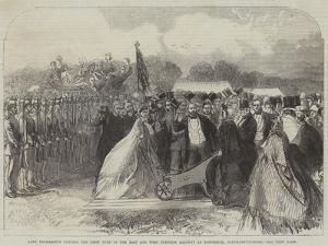 Lady Palmerston Cutting the First Turf of the East and West Junction Railway at Towcester