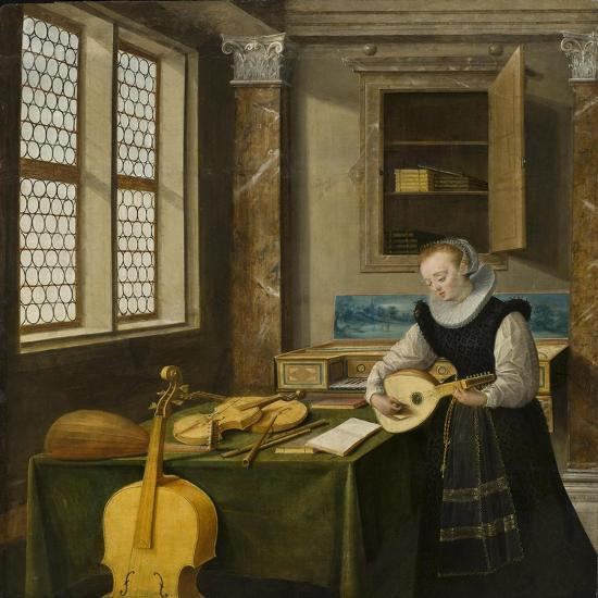 Lady Playing the Lute, c.1610-Hendrik The Younger Steenwyck-Giclee Print