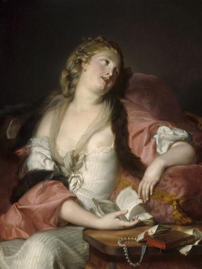 Lady Reading the Letters of Heloise and Abelard, C.1780-Bernard d'Agescy-Giclee Print
