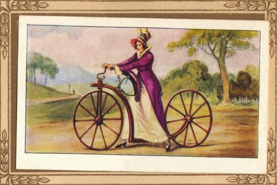 'Lady's Pedestrian Hobby-Horse', 1819, (1939)-Unknown-Giclee Print