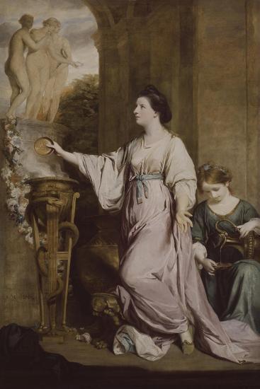 Lady Sarah Bunbury Sacrificing to the Graces, 1763-65-Joshua Reynolds-Giclee Print